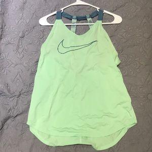 Green Nike women's tank
